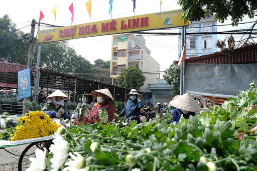 chợ hoa mê linh