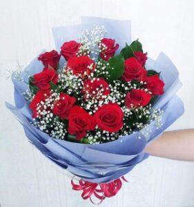 ảnh bó hoa sinh nhật với hoa hồng